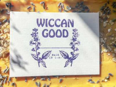 Wiccan Good logo design art direction illustraion print design brand identity businesscard branding logo design
