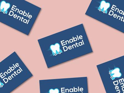 Business Card Design | Enable Dental mockup design bussines card marketing redesign