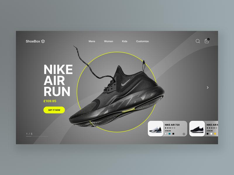 Shoe Website UI
