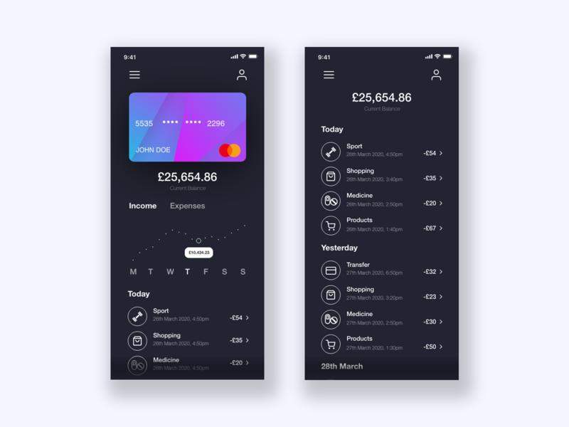 Banking App UI uidesign uiux ux design ux ui design ui design finance app finance credit card app credit card banking app banking