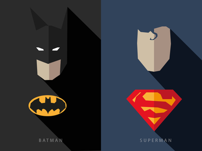 Batman Superman art light dark day night man super bat heros comics superman batman