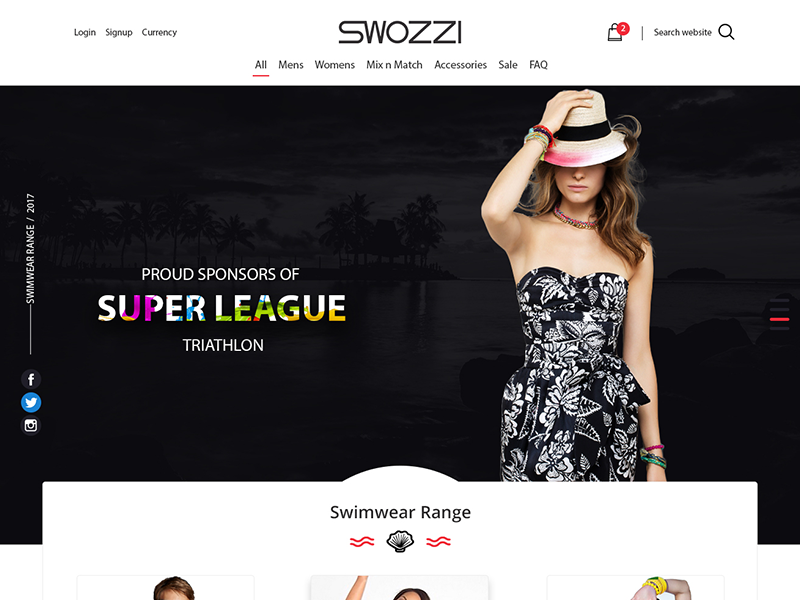 Shopping Web App psd design landing page website shopping e commerce