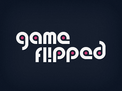 game flipped logo clean white magenta