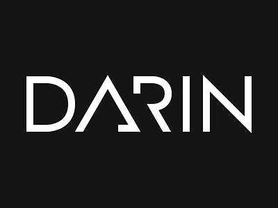 Darin Logo (rebound) logo typography rebound sans-serif custom wordmark