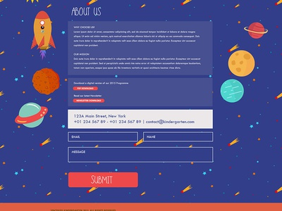 Contact us Page for Kindergarten Website