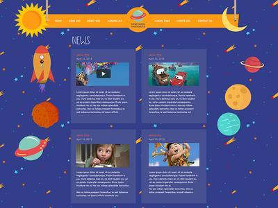 Kindergarten website news page