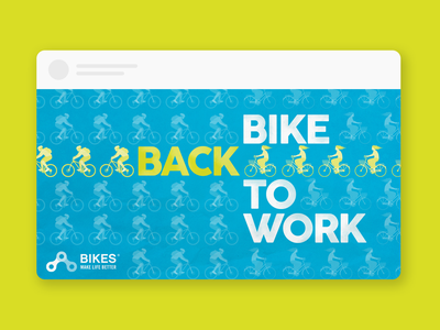 Bike Back to Work bike social media bike to work bike ads cycling bikes bike social media posts social media ads social media