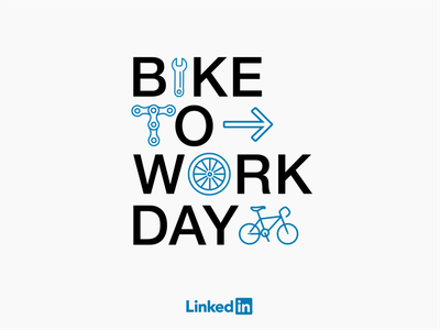 Linkedin - Bike to Work Day tshirt design bike to work day linkedin company branding brand design illustration bike to work bikes bike ads bike
