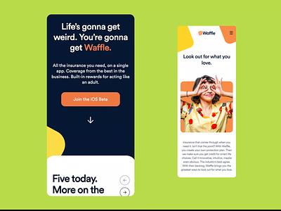 Waffle – Website branding design brand identity waffle creative insurance app insurance web design website design webdesign website design brand company branding brand design
