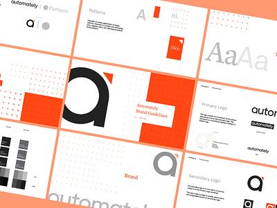 Automately - Brand Guidelines typography brand identity ui logo illustration brand design branding company brand design