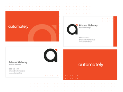 Automately - Business Cards company mockup business cards brand identity illustration logo brand brand design