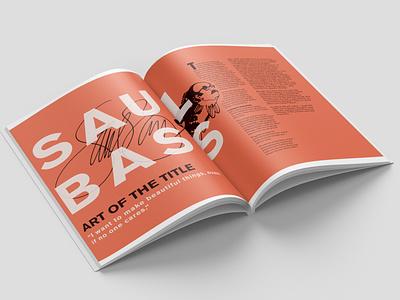 Saul Bass Magazine Spread magazine design magazine editorial layout editorial design saul bass