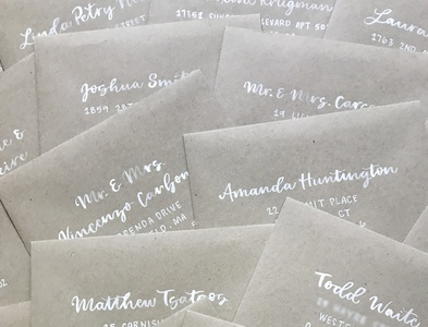 Hand Lettered Envelopes rustic wedding painted envelopes weddings wedding envelopes wedding envelopes typography hand lettering art lettering hand lettering lettering artist