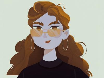 Hello, it's I! potrtret girl female illustration texture illustrator illustration vektor
