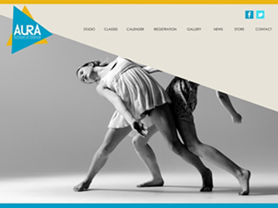 Aura School of Dance Home page
