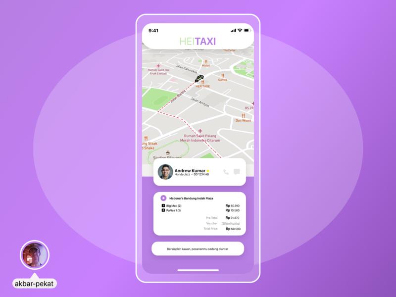 HeiTAXI App UI Design mobile figma design ui akbarpekat