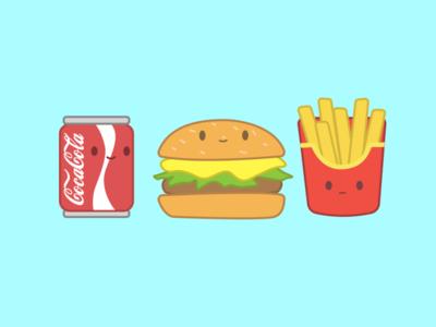 cute fast food doodle doodle art doodleart doodles doodle mcdonalds coca cola cocacola coca-cola sticker fast food fastfood artwork art design illustrations illustrator illustraion