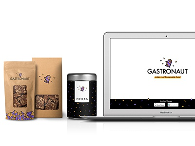 Gastronaut implementations biscuits packaging logo international homemade glove gastronomy gastronaut food cooking