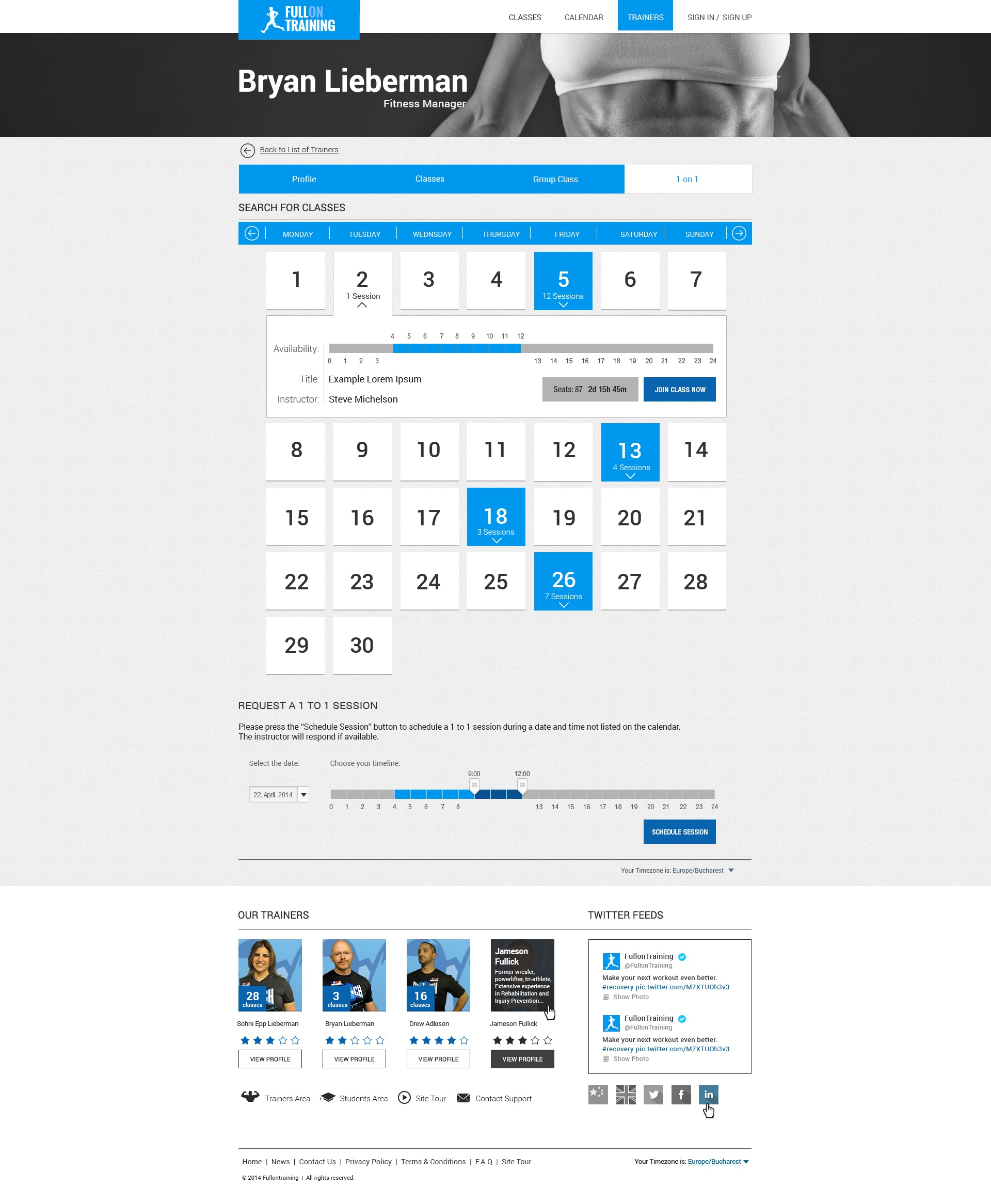 dribbble fitness template profile page 1 on 1class4 jpg by paul moga