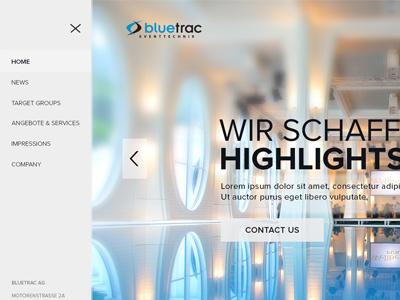 Events organizer website website web light blue event ux ui webdesign