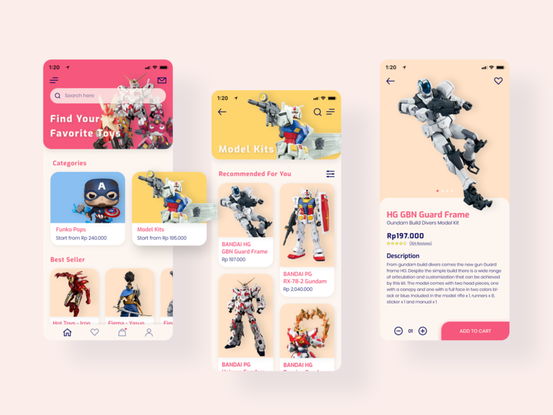Toy Store - Mobile UI