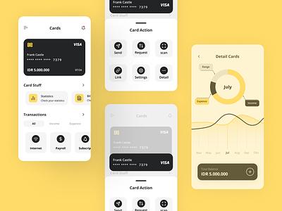 Finance Mobile Apps debut mobile app design mobile app mobile ui mobile clean wallet data statistics chart card bank visual design wallet ui wallet app ewallet finance app uidesign app design