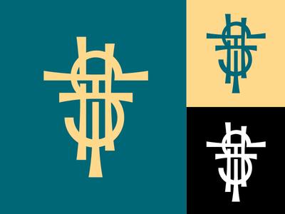 STH logotype logotype monogram cross