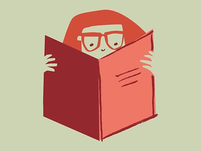 Girl reading illustration
