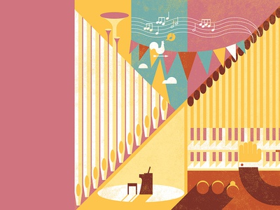 Pipe organ jubilee pipe organ illustration