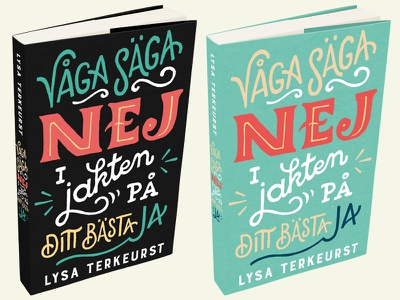 """Våga säga nej"" book cover book cover hand lettering"
