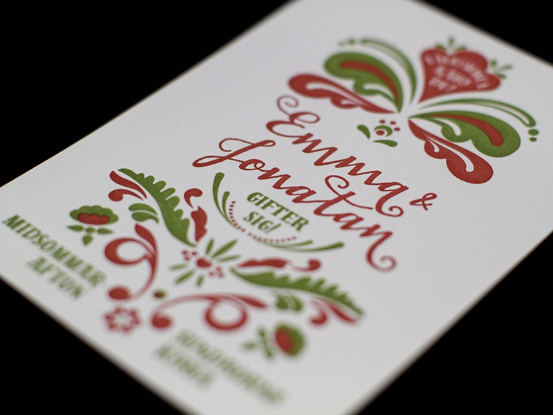 Wedding invitation letterpress wedding kurbits