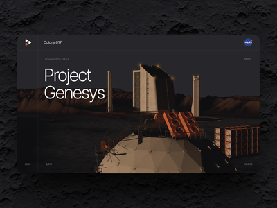Moon base. Project Genesys - part 2 concept moon base space moon ux ui user experience