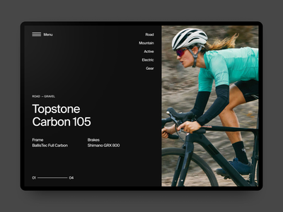 Cannondale Bicycle Store Concept cannondale layout cycling hero web webdesign sport typography concept minimal clean interface bicycle website ui