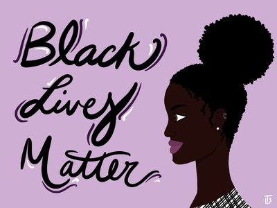 BLM Woman blacklivesmatter ipadproart hand lettering typography silhouette character design designer procreate illustration