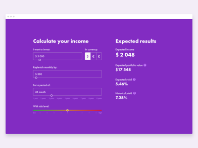 Investment return calculator [Web]