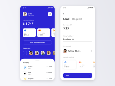 Multicurrency Wallet App + 1 Dribbble Invite