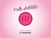 Hello dribbble! And thank you monome :)