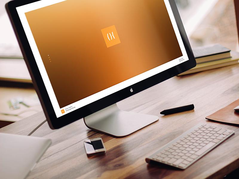 Homepage: Oliver Kieffer – Mediadesign mockup homepage