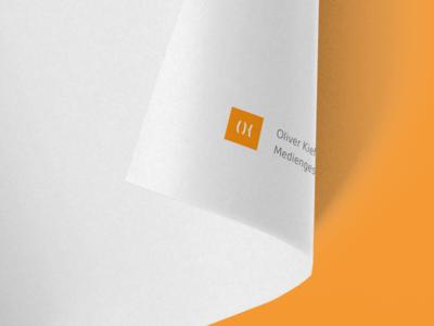 Letterhead: Oliver Kieffer – Mediadesign