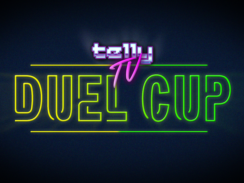 telly TV - Duel Cup 2018 Logo twitch logo retro gaminglogo gaming brand 80