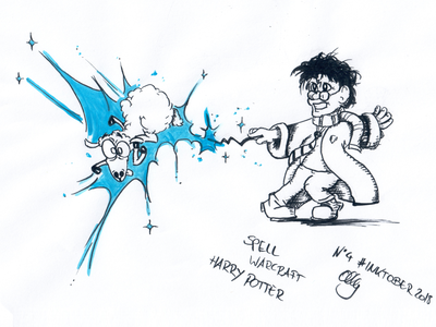 Inktober 2018 Nr. 4 - Spell polymorph mage world of warcraft warcraft sheep harry potter drawing nerdy illustration inktank aquarel inktober 2018 inktober