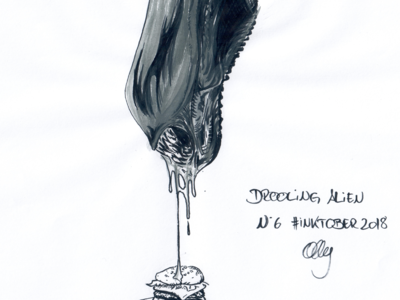 Inktober 2018 Nr. 6 - Drooling