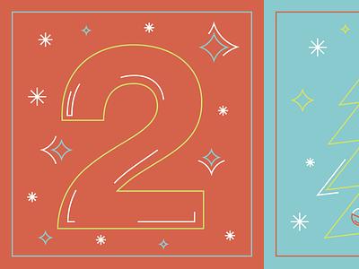 12 days of Christmas 12 days of christmas illustration line