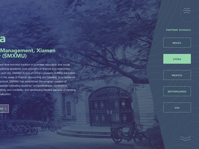 Redesigning the global MBA experience ui web