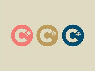 A bunch of C's logos branding