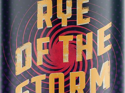 Rye of the Storm - Reject hurricane relief beer branding can design beer can beer label beer