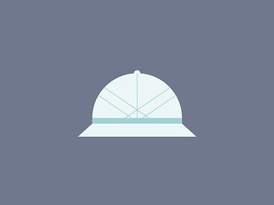 Going on a Safari hat line illustration vector illustration