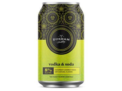 Canned Cocktails vodka lime cucumber design branding illustration vector package cocktails can design