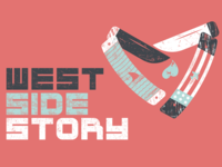 West Side Story Lettering lettering branding westsidestory theatre texture vector illustration