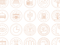 Monoline Icon Set monoline iconography vector icon set icons line illustration